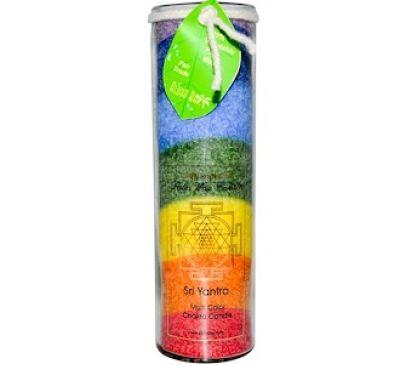 Aloha Bay, Свеча из пальмового воска, Шри Янтра, многоцветная чакра, 17 унций