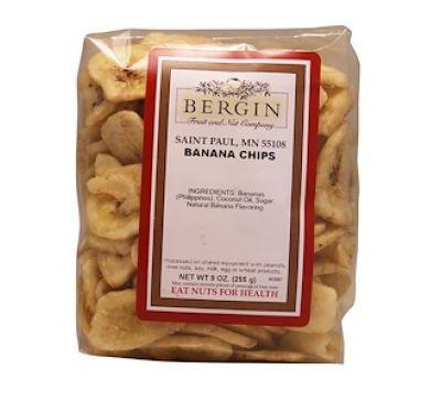 Bergin Fruit and Nut Company, Банановые чипсы, 9 унций (255 г)