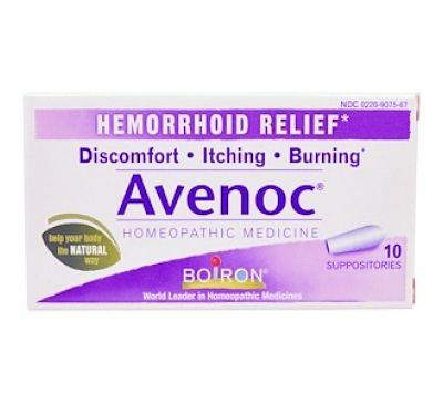 "Boiron, ""Avenoc"", свечи от геморроя, 10 суппозиториев"