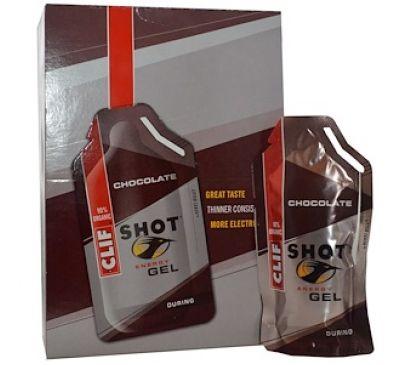 """Clif Bar, Энергетический гель """"Шот"""", шоколад, 24 пакетика, по 1,2 унции (34 г) каждый"""