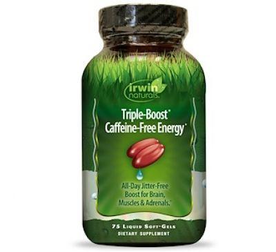 Irwin Naturals, Пищевая добавка «Тройная энергия без кофеина», 75 мягких капсул