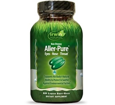Irwin Naturals, Aller-Pure 60 жидких гелевых капсул