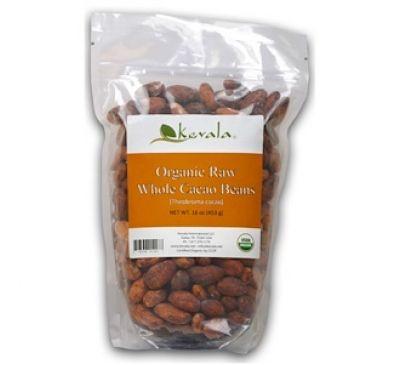 Kevala, Organic Raw Cacao Beans, 16 oz.