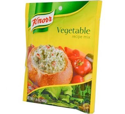 """Knorr, Смесь """"Овощной рецепт"""", 1,4 унции (40 г)"""