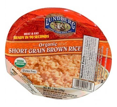 Lundberg, Органический короткий коричневый рис, 7,4 унции (210 г)