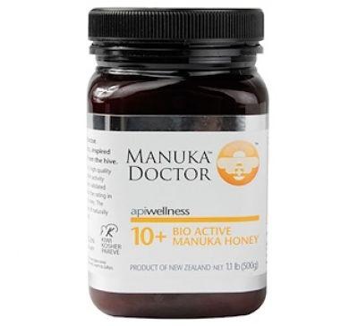 Manuka Doctor, Apiwellness, Био Активный Манука Мед, 10+, 1,1 фунта (500 г)