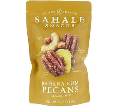 Sahale Snacks, Snack Better, Glazed Mix, Banana Rum Pecans, 4 oz (113 g)