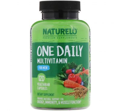 NATURELO, One Daily Multivitamin for Men, 120 Vegetarian Capsules