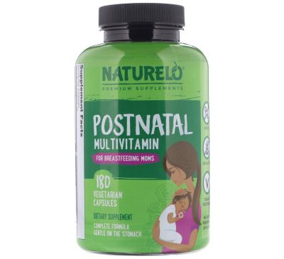 NATURELO, Postnatal Multivitamin for Breastfeeding Moms, 180 Vegetarian Capsules