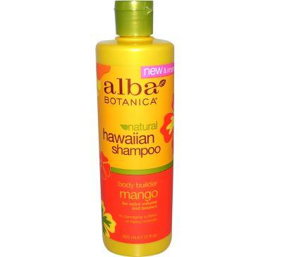 Alba Botanica, Гавайский шампунь, структурирующий манго, 12 жидких унций (355 мл)