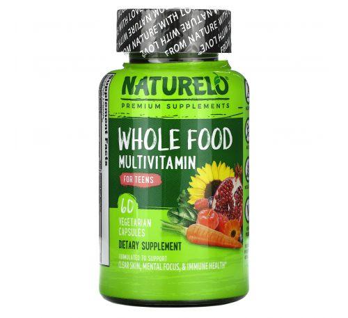 NATURELO, мультивитамины из цельных продуктов для подростков, 60 растительных капсул