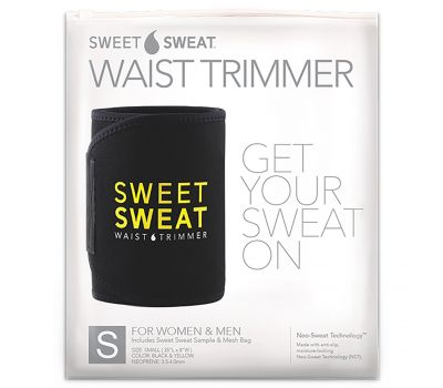 Sports Research, Sweet Sweat, пояс для похудения, маленький, черный и желтый, 1 шт.