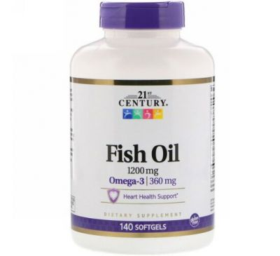 21st Century, Fish Oil, 1,200 mg, 140 Softgels