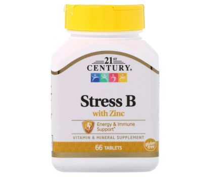 21st Century, Stress B with Zinc, 66 Tablets