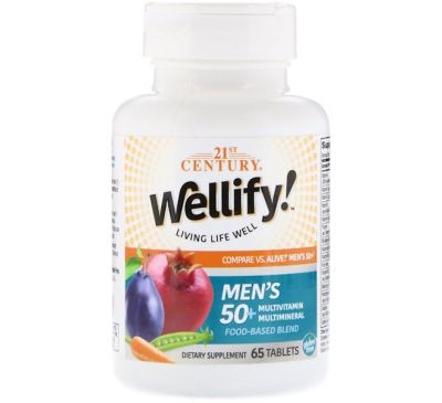 21st Century, Wellify, Men's 50+, 65 Tablets