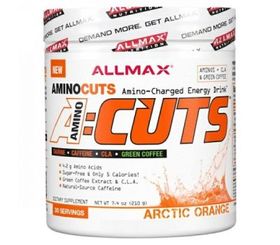 ALLMAX Nutrition, ACUTS, Amino-Charged Energy Drink, Arctic Orange, 7.4 oz (210 g)