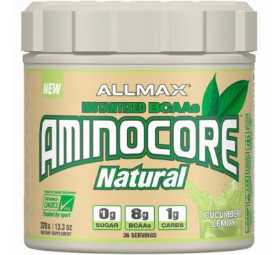 ALLMAX Nutrition, AMINOCORE Natural, Instantized BCAAs, Cucumber Melon, 13.3 oz (378 g)