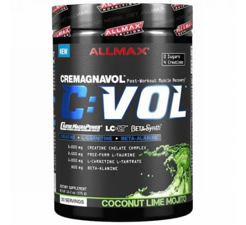 ALLMAX Nutrition, CVOL, Post-Workout Muscle Recovery, Coconut Lime Mojito, 13.2 oz (375 g)