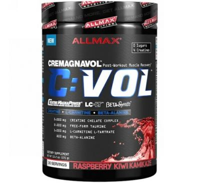 ALLMAX Nutrition, CVOL, Post-Workout Muscle Recovery, Raspberry Kiwi Kamikaze, 13.2 oz (375 g)