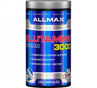 ALLMAX Nutrition, Glutamine 3000, 3,000 mg, 150 Capsules