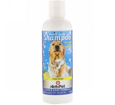 Actipet, Pure & Gentle Shampoo for Dogs, Natural Citrus, 8 fl oz (237 ml)