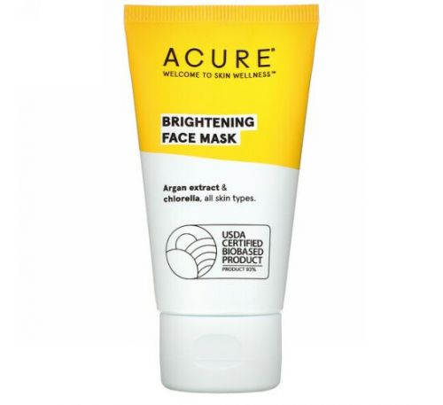 Acure, Brightening Face Mask, 1.7 fl oz (50 ml)