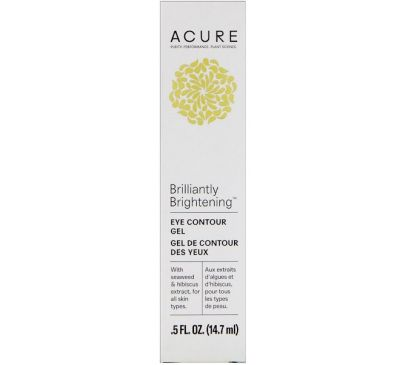 Acure, Brilliantly Brightening, Eye Contour Gel, .5 fl oz (14.7 ml)
