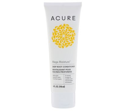 Acure, Mega Moisture, Deep Root Conditioner, 4 fl oz (118 ml)