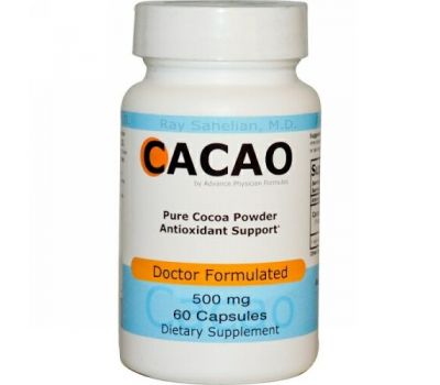 Advance Physician Formulas, Какао, 500 мг, 60 капсул
