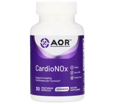 Advanced Orthomolecular Research AOR, Cardio Nox, 30 Vegetarian Capsules