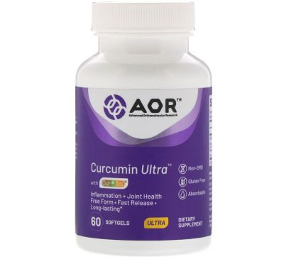 Advanced Orthomolecular Research AOR, Curcumin Ultra with CurQfen, 60 Softgels