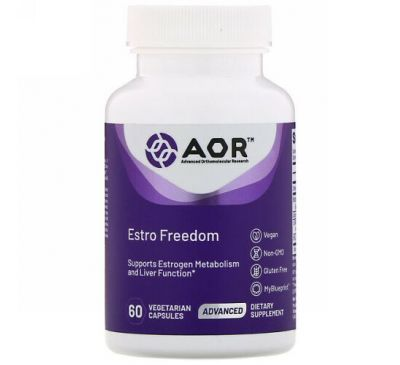 Advanced Orthomolecular Research AOR, Estro Freedom, 60 Vegetarian Capsules