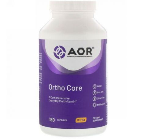 Advanced Orthomolecular Research AOR, Ortho Core, 180 капсул
