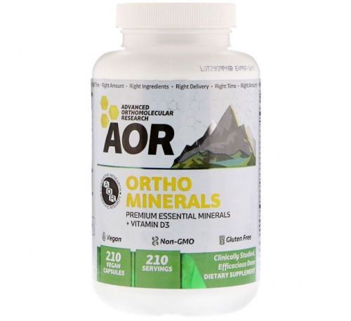 Advanced Orthomolecular Research AOR, Ortho Minerals, 226 mg, 210 Vegan Caps