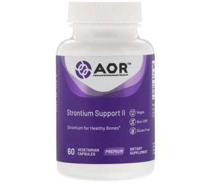 Advanced Orthomolecular Research AOR, Strontium Support II, 60 Vegetarian Capsules