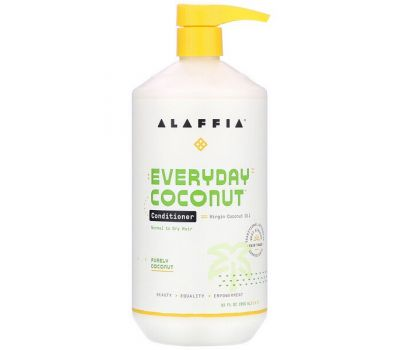 Alaffia, Everyday Coconut, Conditioner, Normal to Dry Hair, Purely Coconut, 32 fl oz (950 ml)