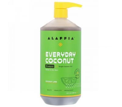 Alaffia, Everyday Coconut, Shampoo, Normal to Dry Hair, Coconut Lime, 32 fl oz (950 ml)