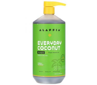 Alaffia, Everyday Coconut, Shampoo, Normal to Dry Hair, Purely Coconut, 32 fl oz (950 ml)