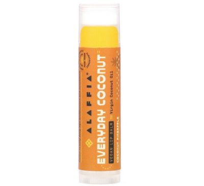 Alaffia, Everyday Coconut, Vegan Lip Balm, Coconut Pineapple, 0.15 oz (4.25 g)