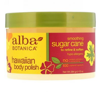 Alba Botanica, Hawaiian Body Polish, Sugar Cane, 10 oz (284 g)