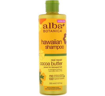 Alba Botanica, Hawaiian Shampoo, Real Repair Cocoa Butter, 12 fl oz (355 ml)