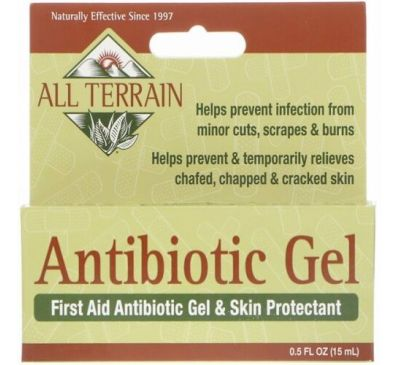 All Terrain, Antibiotic Gel, First Aid Antibiotic Gel & Skin Protectant, 0.5 fl oz (15 ml)