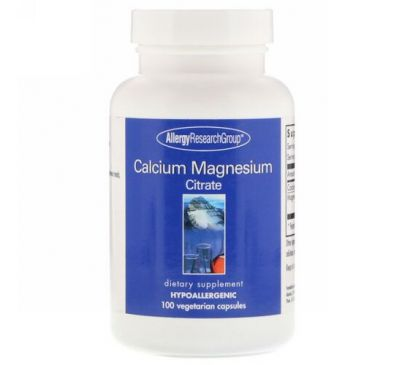 Allergy Research Group, Calcium Magnesium Citrate, 100 Vegetarian Capsules