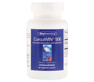 Allergy Research Group, CurcuWin 500, 60 Vegetarian Capsules