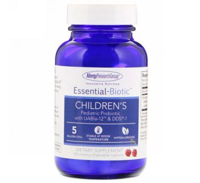 Allergy Research Group, Essential-Biotic, Children's, 60 Cherry Chewable Tablets