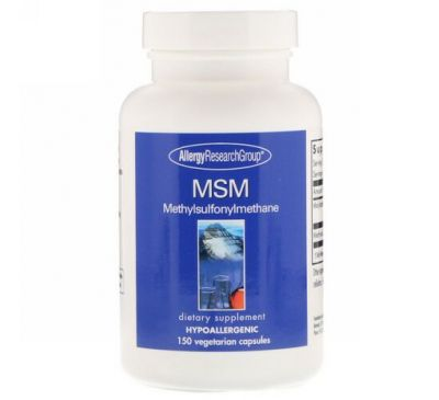 Allergy Research Group, MSM Methylsulfonylmethane, 150 Vegetarian Capsules