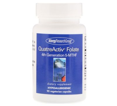 Allergy Research Group, QuatreActiv фтолат 4-го поколения 5&#x2013-МТГФ, 90 капсул