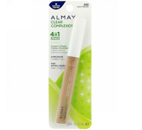 Almay, Clear Complexion Concealer, 200, Light/Medium, 0.18 fl oz (5.3 ml)