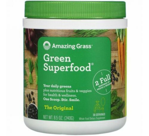 Amazing Grass, Green Superfood Original, 240 г