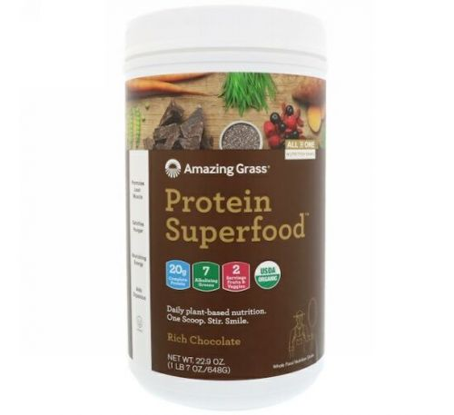 Amazing Grass, Protein Superfood, Rich Chocolate, 22.9 oz (648 g)